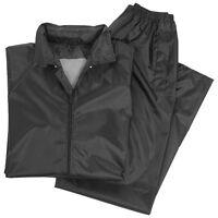 Waterproof Jacket Trousers Suit Hooded Mens Rain Set Fishing Hiking Black S-xxl