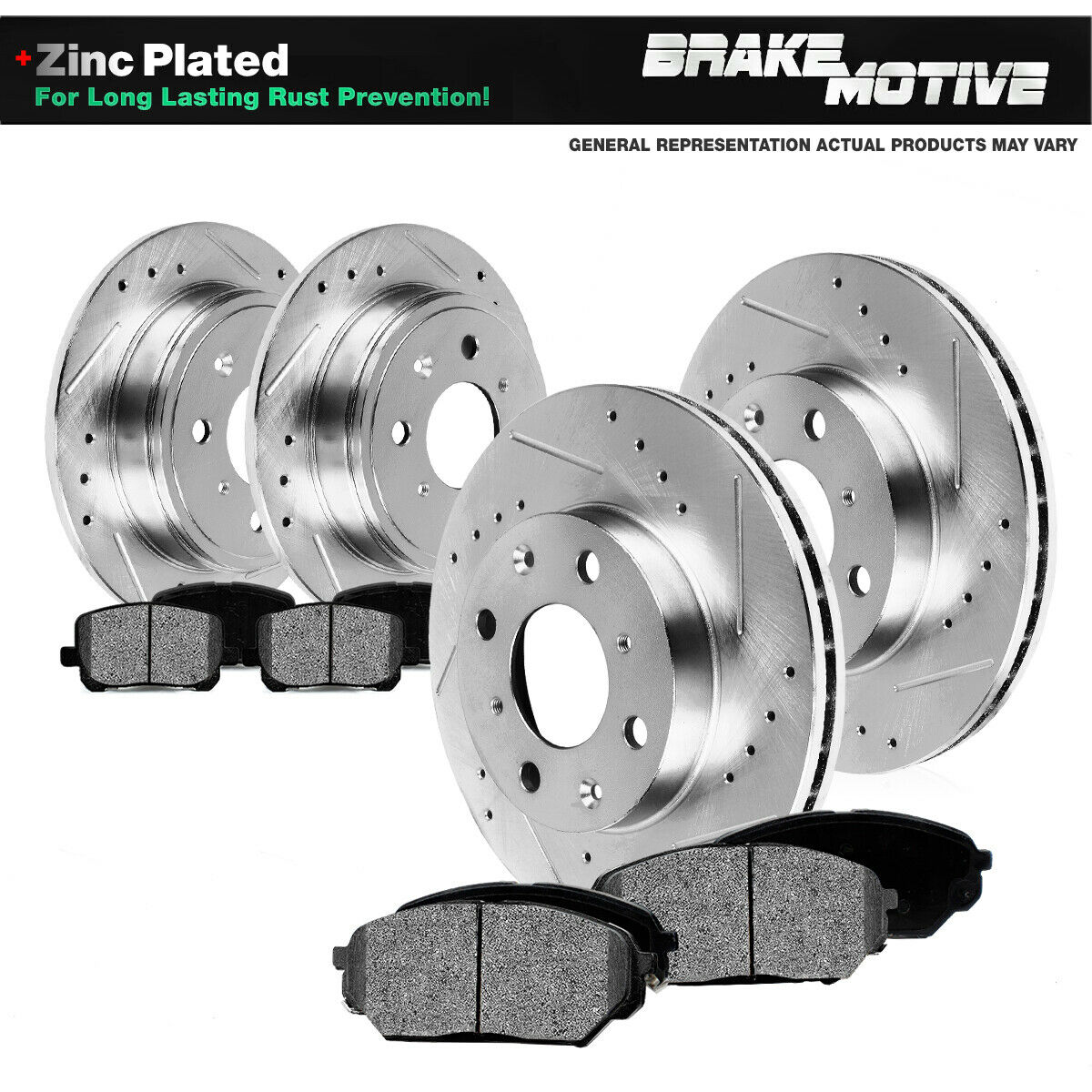 OE Replacement Rotors w//Ceramic Pads F+R 2012 2013 Ford Mustang See Desc.