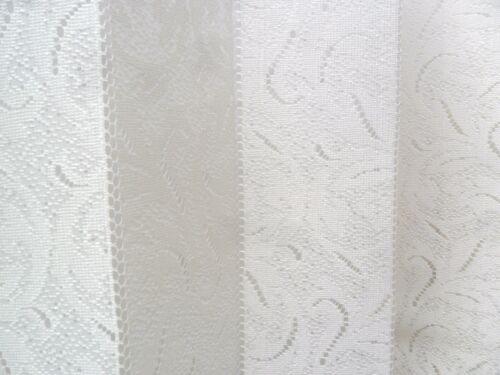 """Louvre net dentelle aveugle Valence Design Louvre Stores Net rideaux 72/""""X 63/"""" Crème"""