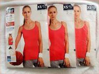 3 Stück Damen Fitnesstop Top Training Damenmode Pink Gr Xs (32-34)(64)