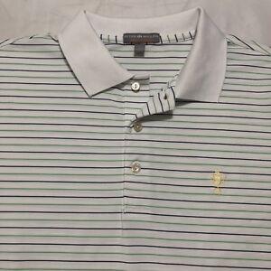 40de12c474d3 Peter Millar Summer Comfort Golf Polo Shirt Mens Large L white W ...
