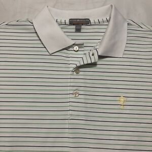0796e09b53ad Peter Millar Summer Comfort Golf Polo Shirt Mens Large L white W ...