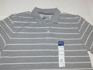 Big XXXXL 4X Blue Striped Mens Polo Shirt Tall XL Big /& Tall XXL 2X
