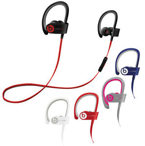 Beats By Dr Dre Powerbeats 2 Wireless Headphones Black Blue Pink Red White Ebay