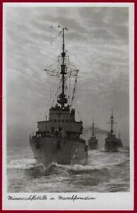 Germany Third Reich postcard Kriegsmarine Minesweeper flotilla 1943