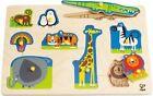 Hape E1403 Wild Animals Peg Puzzle