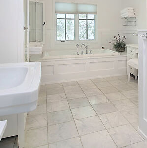Bianco carrara marble polished tile floor wall 16x16x1 2 for 100 floors floor 75