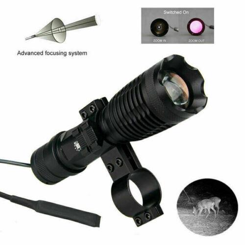 Long Range 5W IR Infrarot 850nm Zoom Jagd Taschenlampe Nachtsicht Gewehr Berg DE
