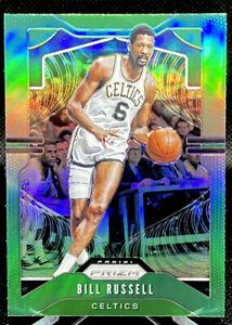 2019-20-Panini-Prizm-Bill-Russell-21-Green-Refractor-Boston-Celtics