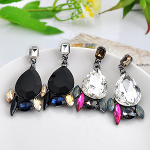 Elegant-Women-Rhinestone-Resin-Water-Drop-Ear-Stud-Eardrop-Dangle-Earring-Gift