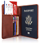 Slim-Leather-Travel-Passport-Wallet-Holder-RFID-Blocking-ID-Card-Case-Cover-US thumbnail 25