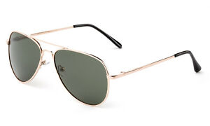 5207fb02f9df Image is loading Youth-Top-Gun-Aviator-Polarized-Sunglasses-Gold-Stainless-