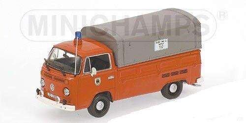 Minichamps VOLKSWAGEN t2 single CABIN Flatbed –1972 –  Vigili del Fuoco Dortmund' - 1 43