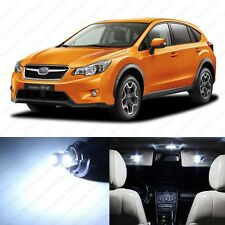 6 x Xenon White LED Interior Lights Package For 2013 and Up Subaru XV Crosstrek