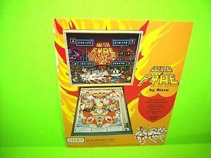 Stern-WILD-FYRE-Original-1978-Flipper-Game-Pinball-Machine-Flyer-2-Sided-Version