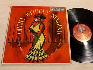 Arthur Fiedler Boston Pops Opera Without Singing LP RCA Shaded Dog DG M-!!!!