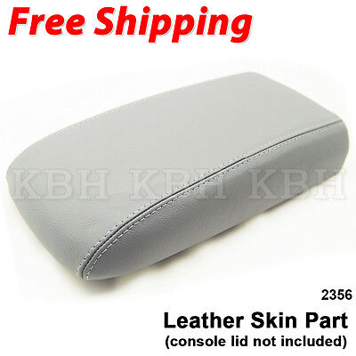 Chevy Trailblazer Console Synthetic Leather Cover Gray For 02-09