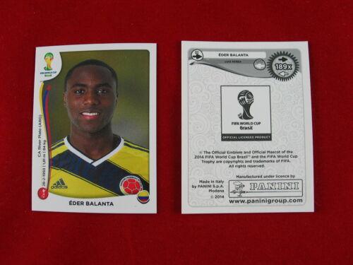 """Panini WM 2014 Update /""""der echte/"""" Eder Balanta Extra Sonder-Sticker WC 14 189x"""