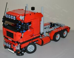 NEW-LEGO-TECHNIC-RED-8258-V6-MOC-CUSTOM-TRUCK-over-14-inches-long
