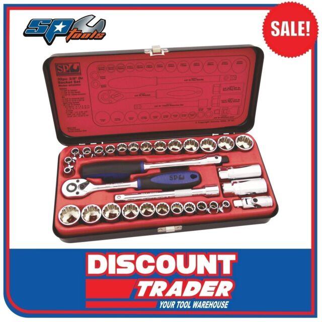 "SP Tools Socket Set 3/8"" Drive 12 Point 32 Piece Metric/SAE - SP20200"
