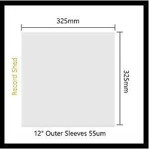 20-x-RECORD-SLEEVE-PLASTIC-COVER-OUTER-for-Vinyl-LP-039-s-12-034-Albums-Aust-Made-Clear