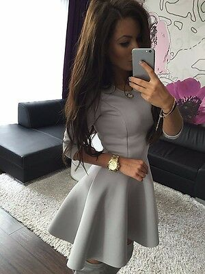 New Fashion Sexy Women 3/4 Sleeve Party Dress Evening Cocktail Casual Mini Dress