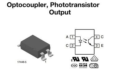 Transistor Output Optocouplers Phototransistor Output 500 pieces