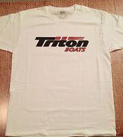 Triton Boats T-shirt White Medium W/free Sticker Decal You Get 2 Bass Boat