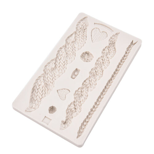 Knitting Mold Silicone Fondant  Knitting Sweater Texture Relieve MW MF