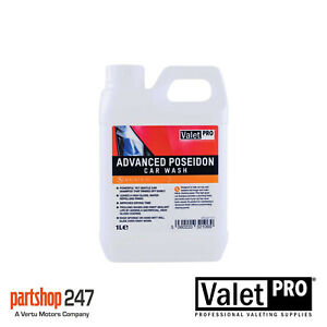 ValetPro Advanced Poseidon Car Wash / Shampoo 1 Litre High Gloss Wax Safe