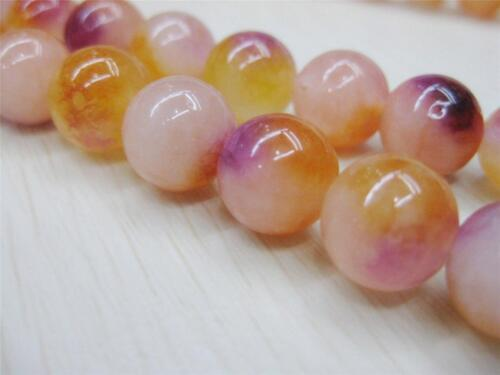 "8mm multicolor orange kunzite Round Gemstone Beads 15/""##AY106"