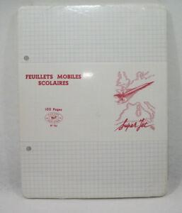 SUPER JET CONCORDE AIR FRANCE Lot Feuillets mobiles NEUF vintage 70's SO.CO.PI