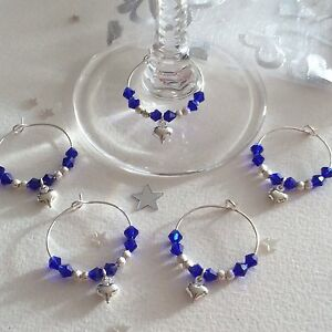45-Blue-crystal-wine-glass-charms-with-heart-Favours-Wedding-Christening-Shower