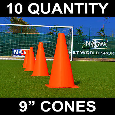 FORZA Training Marker Cones | Football/Rugby Traffic Cones [10 Pack - 3 Sizes]