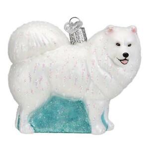 Old-World-Christmas-SAMOYED-12567-N-Glass-Ornament-w-OWC-Box