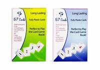 Fully Plastic 57 Cards - 2 Decks: Perfect For Playing The Rook ... Free Shipping