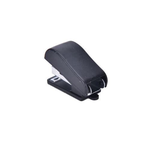 2x Mini Büro Portable Hefter Figur Gun Stationery Book+Kanalisation Klammern ZAB