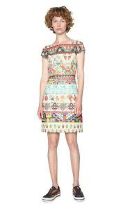 Desigual Elvira Dress XS-XXL UK 8-18 RRP ?74 Tropical Floral Shift Pineapples