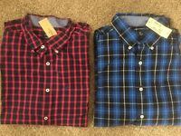 Mens American Eagle Plaid Button Front Shirt, Retail $39.95