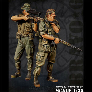 1-35-Snipper-Soldier-Resin-Figure-Set-of-two-Unpainted-Model-Kits-GK-Unassembled