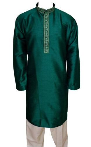 Para Hombre Bollywood Indio Jacqard Kurta Pijama Salwar Moda tema Sherwani Reino Unido 743
