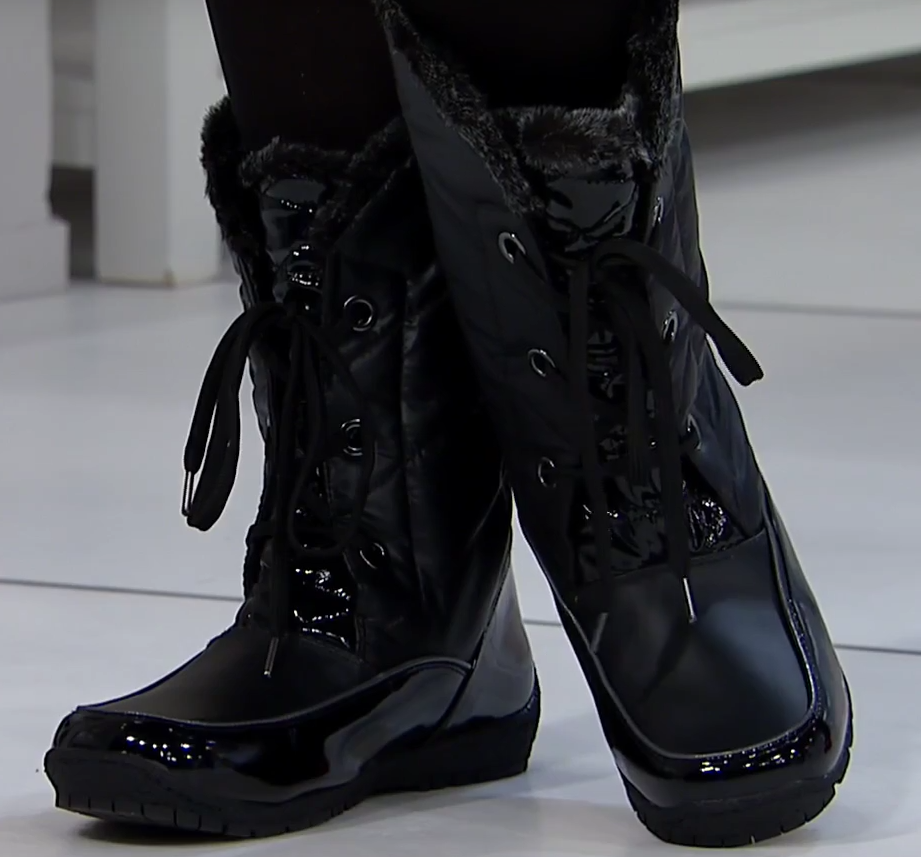 Sporto® Jamie Waterproof Lace-Up Boot, Black 6.5 M