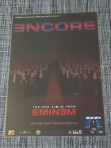 Details about EMINEM - ENCORE - LAMINATED PROMOTIONAL MUSIC STORE POSTER