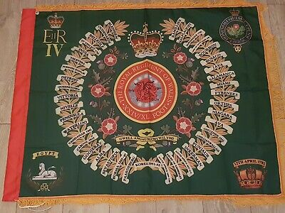 The Royal Regiment of Wales 1st battalion Regimental colours flag.