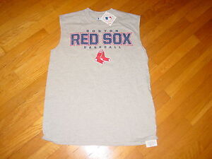 Official-MLB-Boston-RED-SOX-sleeveless-T-Shirt-NEW-TAG-LARGE