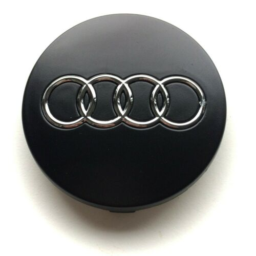 56mm nabendeckel nabenkappen matt schwarz 4B0601170 4x Felgendeckel Audi 60mm
