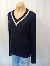 NEU PETER SCOTT Scotland Designer Pullover Gr.56 Zopfmuster Blau Baumwolle