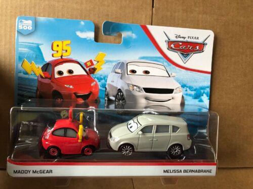 DISNEY CARS 3 Diecast-Maddy McGear /& Melissa Bernabrake-frais de port Combiné