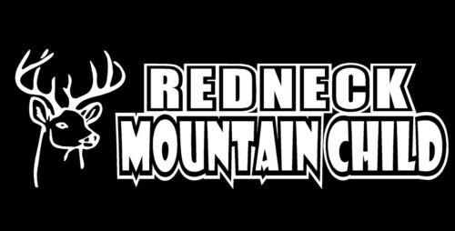 Redneck Mountain Child Decal Deer Head funny car truck window vinyl sticker