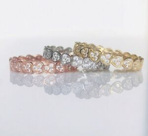 14k-Solid-Gold-Heart-Diamond-Eternity-Band-Stackable-Ring-Endless-Wedding-Band